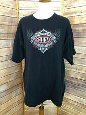 NHRA Championship Drag Racing Black T Shirt Size 2XL Crew Neck