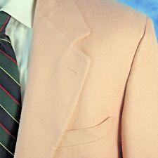Vintage Brooks Brothers Mens 42R PINK Hopsack Silk ICONIC Blazer Jacket USA NICE