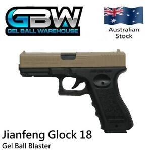 Glock 18 Jianfeng Manual Hopper Fed Gel Ball Blaster Pistol water crystal toy