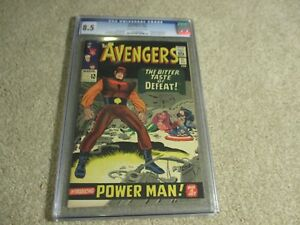 Avengers #21 Origin & 1st App Power Man CGC 8.5 1965 Marvel Off White/White Page