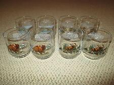 SET OF 8 LIBBEY GLASSES AMERICAN WILDLIFE ON THE ROCKS BEAUTIFUL