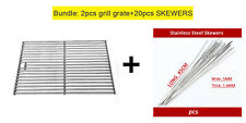 Stainless steel BBQ grill grate & Skewers Flat needles BBQ tools bundle