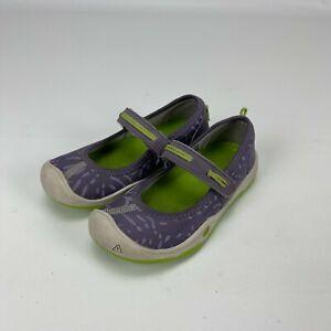 Keen Little Children Girls Moxie Mary Jane Purple / Green Ballet Shoes Size 10