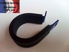 Fixation durite en forme P, diam int: 31,8 mm, aluminium bleu, VENDEUR FRANCAIS