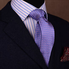 "Pink Chilli Pepper Paisley Floral 3"" Skinny Woven Tie Purple Overlay Men Necktie"