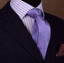 "Pink Chilli Pepper Paisley Floral 3"" Skinny Woven Tie Purple Overlay Men Necktie"