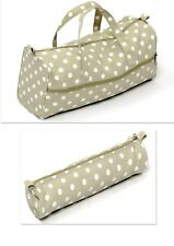 Knitting Bag Sewing Bags  Sage Spot. Soft Handled Bag & Cylindrical Case