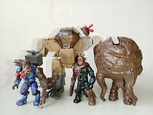 Mega Bloks Construx Halo 2 Flood Infected Elite figures and 4 packs accessories