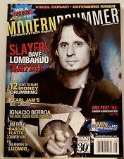 Modern Drummer Magazine Sept 2006 Slayer's Dave Lombardo The Godfather of Bass