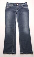 L349 Angels Jeans Low Rise Bootcut Super Stretch Tag sz 14 (Mea 33x30)