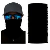 Solid Black Multifunktionstuch Gesichtsschutz Bandana Stirnband