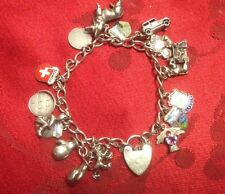 Silver Charm Bracelet Spinner Nuvo Moving Quality Charms 16 Charms