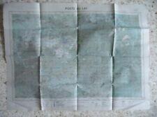 GUERRE INDOCHINE : CARTE POSTE DU LAC DATEE 1949 échelle 1/100.000