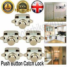 5Pcs Drawer Push Button Catch Lock Cupboard Motorhome Caravan Cabinet Latch Knob