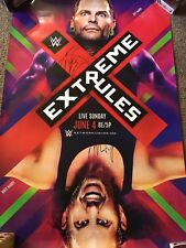 Extreme Rules 2017 Wwe Official Poster Signed Jeff Matt Hardy Autograph 27x40
