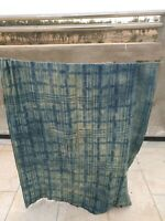 Antique handmade Indigo strip- textile - woven mud cloth from Mali, West Africa