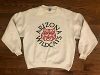 Arizona Wildcats Vintage VTG 1989 Jerzees White Crew Neck Sweatshirt Men's XL