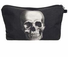skull cosmetic makeup bag make up case printed