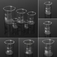 5Pcs/Set Borosilicate Glass Beaker Laboratory Measuring Glassware School Study