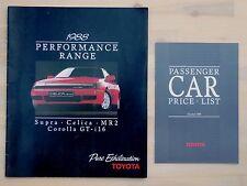 Toyota Performance Range Brochure - October 1988