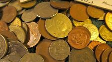 """World Coins Over One Pound Loose Coins Plus Some in 2"""" by 2"""" holders a Nice Set"""