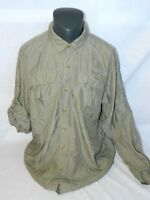 Ducks Unlimited Mens 2XL Shirt vented Outdoor Water Resistant Long Sleeve XXL