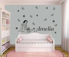 Snow White Princess Disney Wall Stickers GIRLS NAME Bedroom Art Decal