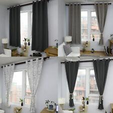 "55x85"" Modern Curtains Living Room Bedroom Window Blackout Drapes Decor"