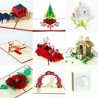3D Up Greeting Card Wedding Birthday Valentine's Day Anniversary Nice I0O4