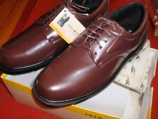 1 NEW PAIR MENS DEER STAGS  SIZE 13 LEATHER SHOES  BROWN SUPRO SOCK TIMES- SMITH
