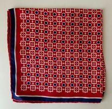Kiton Silk Red Pocket Square Italy