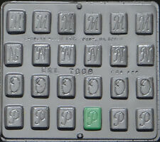 "Alphabet M N O P 1 1/4"" Chocolate Candy Mold 7008 NEW"
