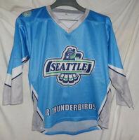 SEATTLE JR THUNDERBIRDS Game Used Worn AHA Hockey Jersey #12 Youth M