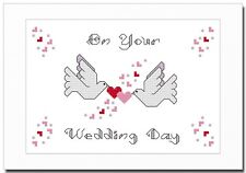 WEDDING DAY - CONFETTI DOVES - CROSS STITCH CARD KIT
