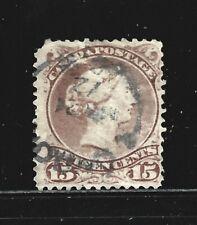 CANADA – 1868 – QUEEN VICTORIA – 15 Cent, Gray-Violet Color – Scott # 29 – USED