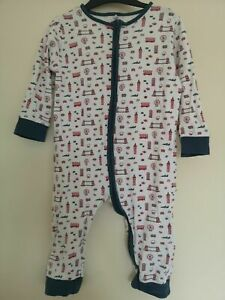 Baby MORI Zip Up Sleepsuit all-in-one romper babygrow Little London 18-24m