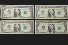 1988-A $1 FRN Web Press F-V Block Run 4 Combo 4-8 Very Fine