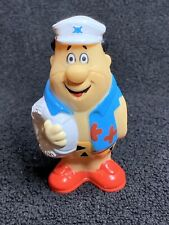 "Hanna Barbera Fred Flinstone Rubber 4"" Tall Toy-Beach Bum"