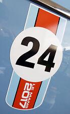 LE MANS 24 HORAS 2017 par de 'Naranja & Azul 24' adhesivos 200mm largo