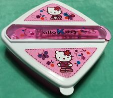 NEW Hello Kitty Lunch Container with Fork & Spoon in School Day Design Pattern