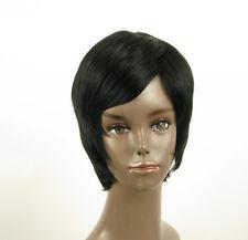 perruque afro femme 100% cheveux naturel courte noir ref LAET 03/1b