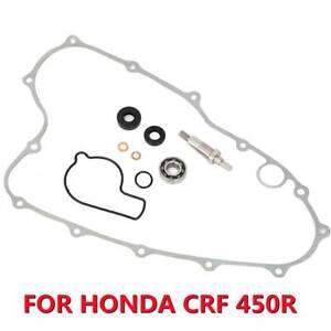 Water Pump Seal Shaft Gasket Bearing Rebuild Kit For Honda CRF 450 R 450 02-08