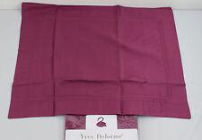 Yves Delorme Triomphe Boudoir Shams Pillow Cases Satin Egyptian Cotton Ruby Red