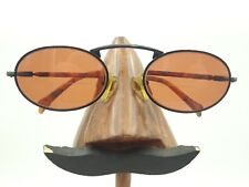 Vintage Kenmark Generra Cobra Tortoise Black Metal Oval Sunglasses Frames