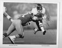 8 X 10 Black & White Autograph Photo Walter Payton Sweetness Chicago Bears HOF