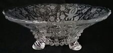 """Prelude Pattern Viking Glass Large 3 Foot 10"""" Across Flared Clear Elegant Bowl"""