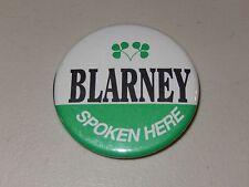 "St. Patrick'S Day / Notre Dame fan ""Blarney Spoken Here!""-2.25"" Dia Button"