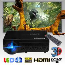 Excelvan 96 LED Beamer Heimkino Projektor 3d 1080p ATV HDMI USB VGA schwarz