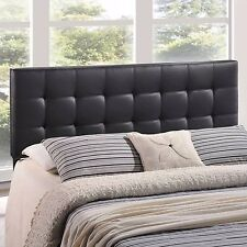 Full Size Headboard Faux Leather Button Tufted Upholstered Bedroom Furniture