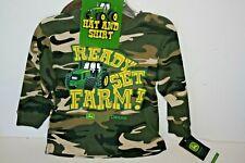 Nwt John Deere Toddler Boys Shirt with matching cap - Size 2T
